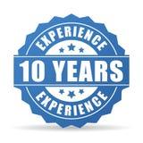 10 da experiência anos de ícone do vetor Fotos de Stock Royalty Free