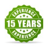15 da experiência anos de ícone do vetor ilustração stock