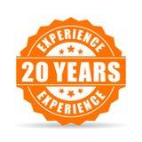 20 da experiência anos de ícone do vetor Imagem de Stock Royalty Free