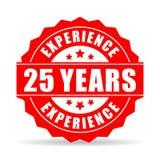 25 da experiência anos de ícone do vetor Imagens de Stock Royalty Free
