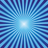 Da explosão abstrata do fundo do vintage vetor azul dos raios Foto de Stock Royalty Free