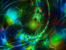 Da faculdade criadora lustrosa da arte finala do fulgor do conceito da abstração do Fractal vibrante digital chapinha o projeto Imagens de Stock