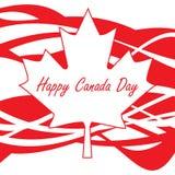 Día feliz de Canadá Foto de archivo libre de regalías