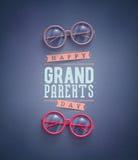 Día feliz de los abuelos Fotos de archivo libres de regalías