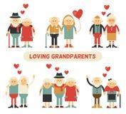 Día feliz de los abuelos Imagen de archivo libre de regalías