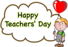 Día feliz de los profesores Fotografía de archivo libre de regalías