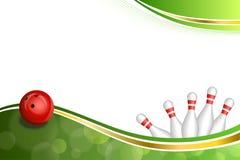 Da fita abstrata do ouro verde do fundo ilustração vermelha de rolamento da bola Foto de Stock Royalty Free