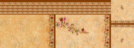 Da flor digital do motivo do projeto do kurti do terno papel de parede colorido ilustração stock