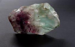 Da fluorite mineral de cristal da fluorite igualmente no fundo preto foto de stock royalty free