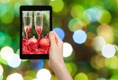 Da foto do Natal vida ainda no fundo verde Imagem de Stock Royalty Free