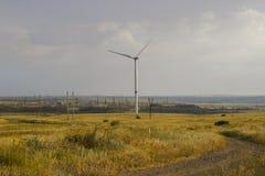 da generatore guidato da vento di Donbass fotografie stock libere da diritti