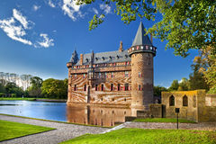 Da haar castle. Beautiful castle on water - Da Haar, Holland Stock Photography