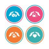 Da iconos del seguro Píldoras médicas de la salud Fotos de archivo