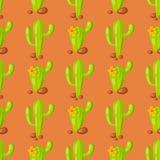 Da ilustração home suculento do vetor da planta tropical do cacto da natureza fundo sem emenda do teste padrão Foto de Stock