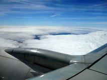 Da janela do avião Fotografia de Stock Royalty Free