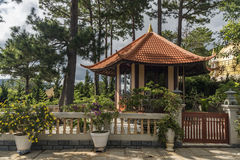 Da Lat city houses in hot day Royalty Free Stock Photos