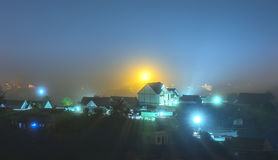 Da Lat city at night. With many mist and light to make the scenery more beautiful night Stock Photo