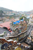 Da-Lat Linh Phuoc Pagoda Arkivfoto