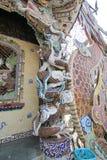 Da-Lat Linh Phuoc Pagoda Arkivbilder