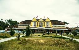 Da Lat Railway Station is a railway station on the Da Lat–Thap Cham Railway line in Vietnam. Da Lat Railway Station is a railway station on the Da Lat– royalty free stock photos