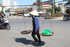 Da Lat street view in Vietnam Stock Image