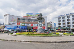 Da-Latmarknad, Da-Lat, Vietnam Arkivfoton
