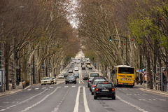 Da Libertade Avenue. Lisbon. Portugal Stock Photos