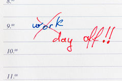 Día libre Imagen de archivo libre de regalías