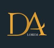 DA Logo Concept Design Royalty Free Stock Image