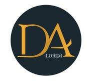 DA Logo Concept Design Stock Image