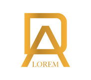 DA Logo Concept Design Stock Photos