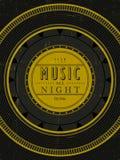 Da música cartaz toda a noite ilustração stock