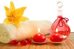 Da massagem vida vermelha ainda fotografia de stock