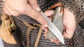 2da mitad del guerrero normando del siglo XI Fotografía de archivo libre de regalías