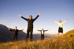 Da montanha do sucesso executivos do conceito da realização Foto de Stock