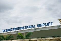 Da nang International Airport in Vietnam stock image