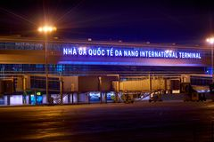 Da Nang-internationaler Flughafen Stockfoto
