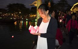 DA NANG SCENERY - Hoi An Flower Lantern Festival royalty free stock photos
