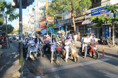 Da Nang street view in Vietnam Royalty Free Stock Photography