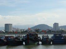 Fishing boats in Da Nang, Vietnam. Stock Photography