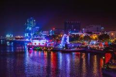 DA NANG, VIETNAM - 19. MÄRZ 2017: Landschaft-nightview am Da Nang, Vietnam Stockbilder