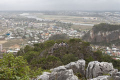 DA NANG, VIETNAM - MARCH 18: Marble mountains scenic view near D Stock Photos