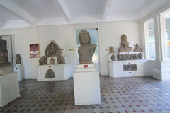 Da Nangmuseum av Chamskulptur Royaltyfria Bilder