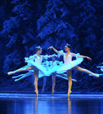 Da neve dos duendes- ato primeiramente do quarto país da neve do campo - a quebra-nozes do bailado imagem de stock