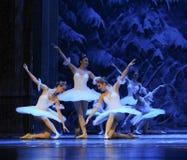 Da neve dos duendes- ato primeiramente do quarto país da neve do campo - a quebra-nozes do bailado imagens de stock
