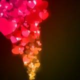 Día o boda de la tarjeta del día de San Valentín de los corazones del vuelo. EPS 8 Fotos de archivo libres de regalías