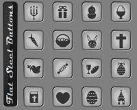 Da Páscoa do dia ícones simplesmente imagens de stock