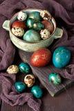 Da Páscoa vida ainda com ovos do colorfull Imagem de Stock