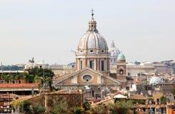 Vista no al Corso de Sant'Ambrogio e Carlo, Roma, Italia fotografia de stock royalty free