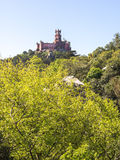 Da Pena Castle from the Distance. Da Pena Castle seen from the distance in Sintra, Portugal stock photo